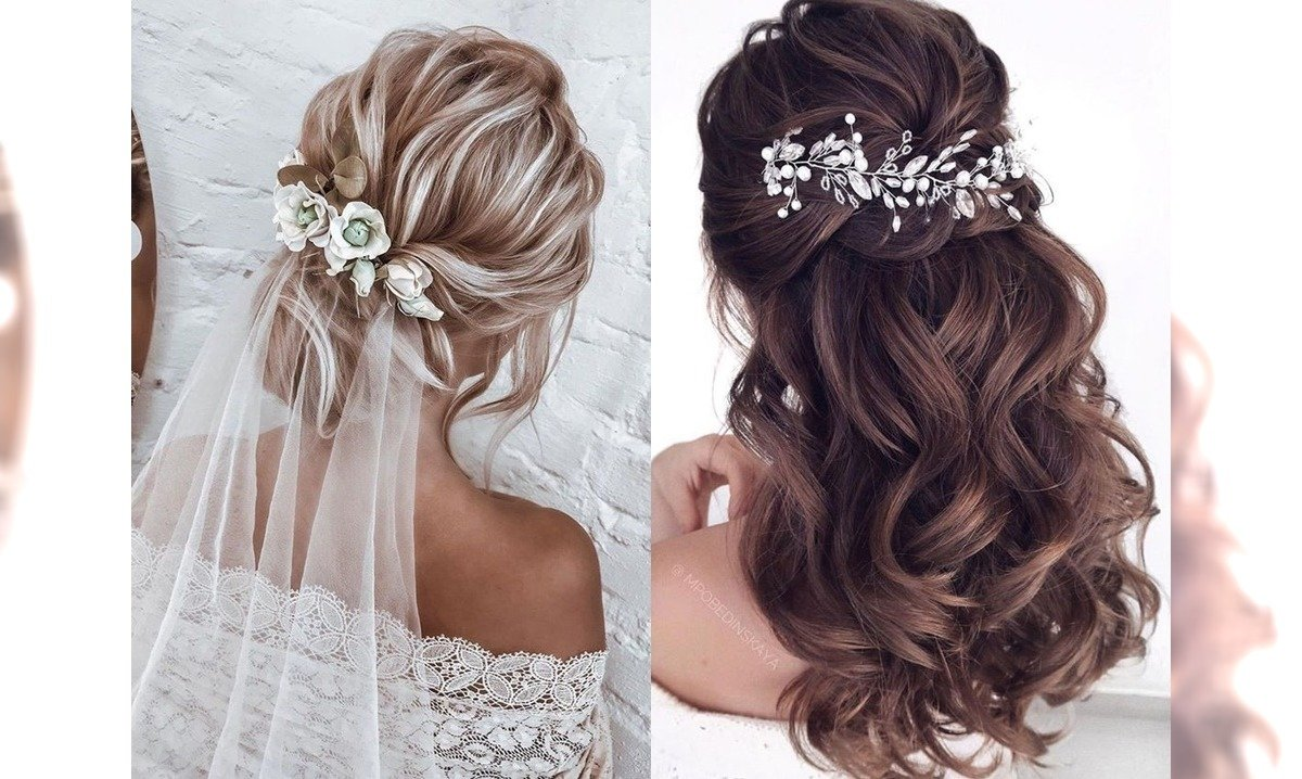 Ślubne fryzury - galeria modnych upięć 2020