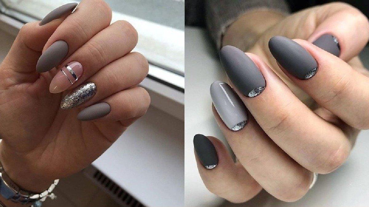 Szary manicure - 23 pomysły na szare paznokcie [GALERIA 2020]