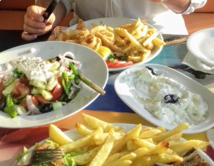 obiad w Grecji