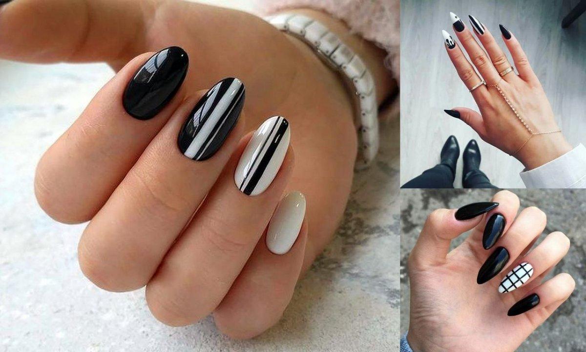 Czarno-biały manicure - 15 eleganckich i ciekawych wzorów