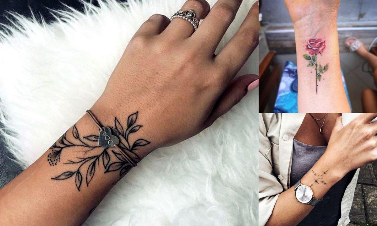 Tatuaż w okolicy nadgarstka - galeria pięknych kobiecych wzorów