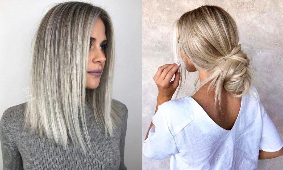Popielaty blond - modna koloryzacja włosów na lato 2020