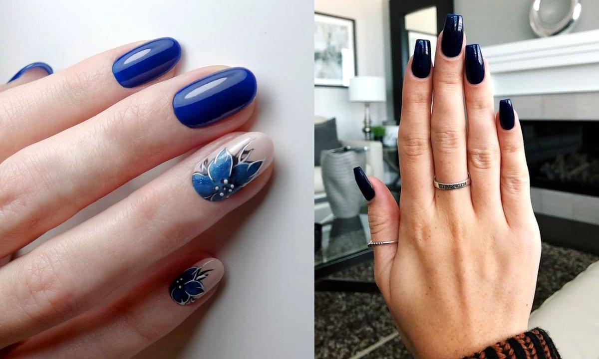 Granatowy manicure - 20 ślicznych stylizacji