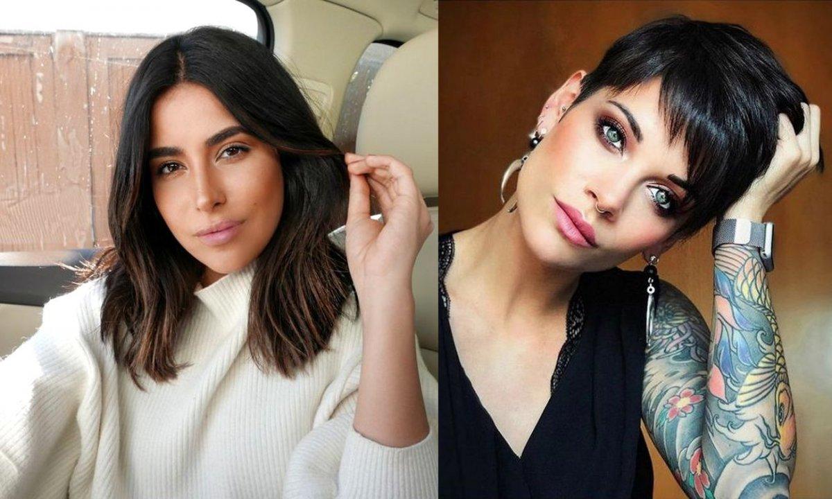 Krótkie i półkrótkie cięcia włosów - 21 fryzjerskich trendów dla brunetek i szatynek