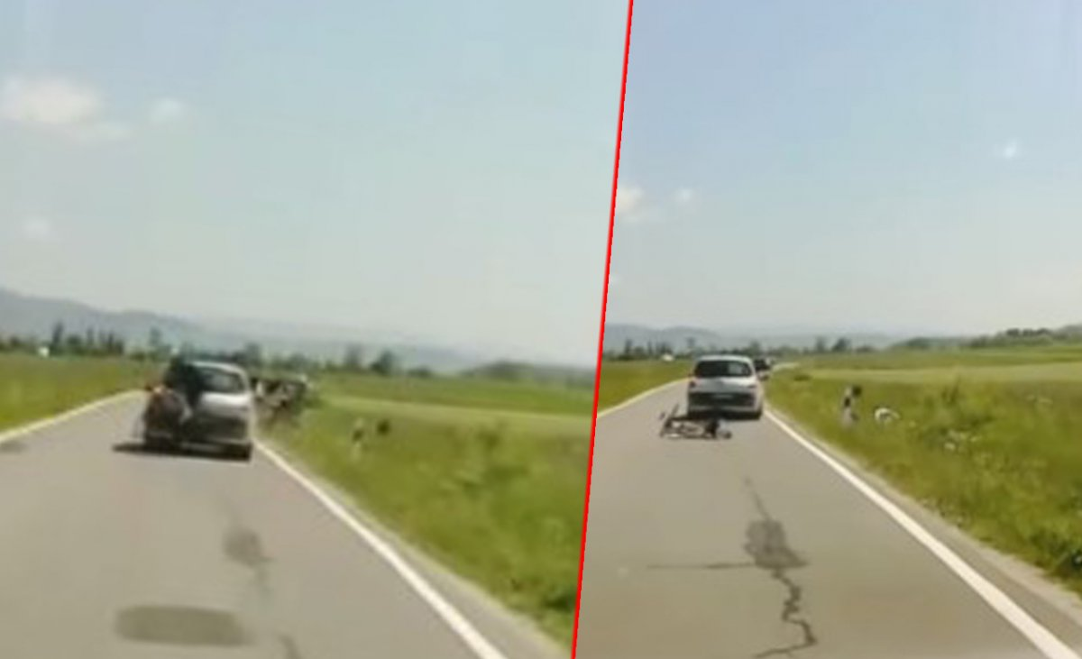 """18-letni kierowca wymierzył """"karę"""" rowerzystom pod Tatrami. Wstrząsające nagranie obiegło sieć"""