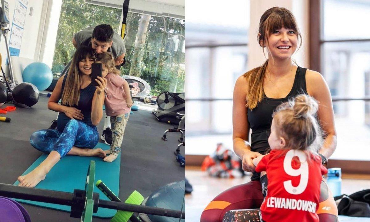 Klara Lewandowska szaleje na siłowni pod okiem mamy. Kondycji możemy jej tylko pozazdrościć...