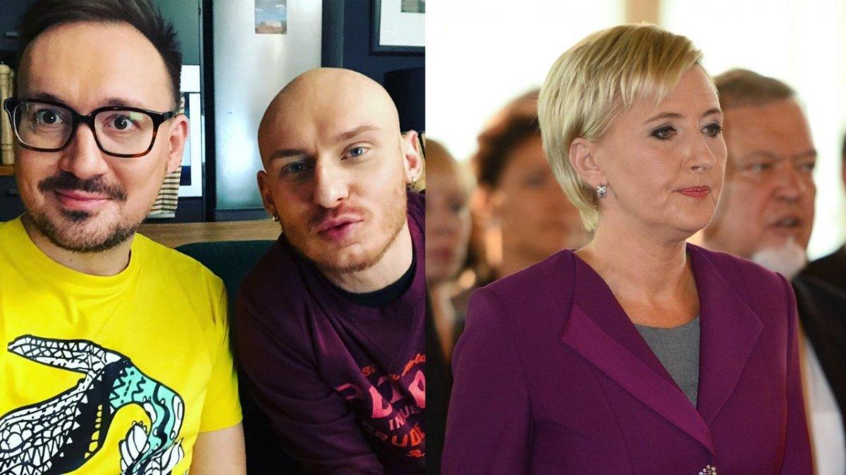 """Mariusz Kozak z """"Gogglebox"""" w mocnych słowach apeluje do Agaty Dudy. """"Homofobia niszczy rodzinę"""""""