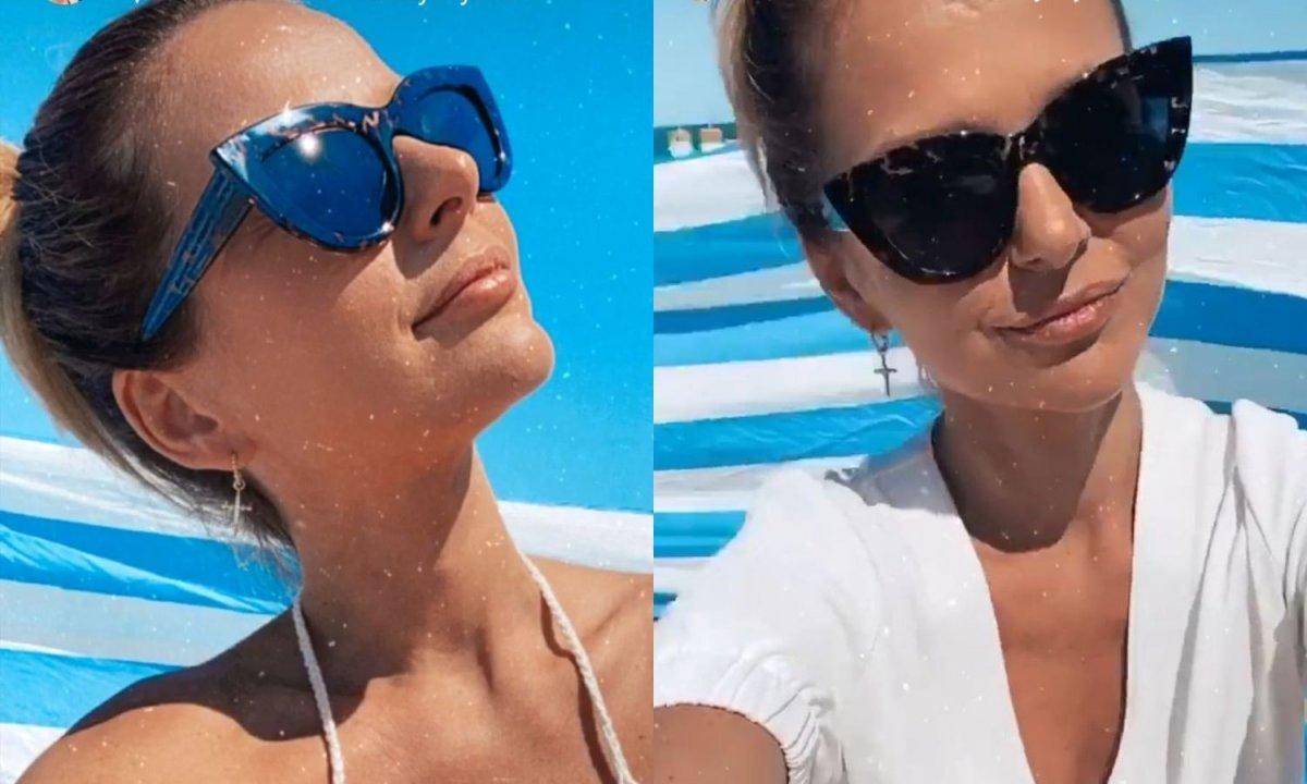 Paulina Sykut w dzierganym białym bikini chwali się opalenizną. Jak to możliwe?