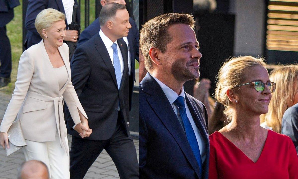 Agata Duda i Małgorzata Trzaskowska mają kompletnie odmienny styl. Która wyglądała lepiej na wyborach?