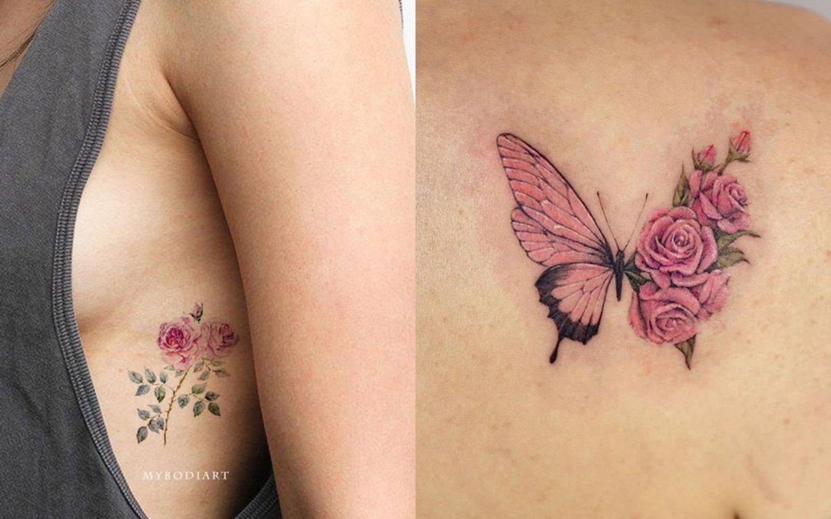 Tatuaż róża - 22 wzory tatuaży z różą w roli głównej