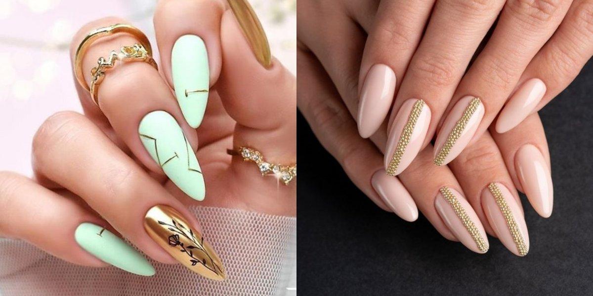 Złote paznokcie - złoty manicure w najmodniejszym wydaniu [GALERIA]