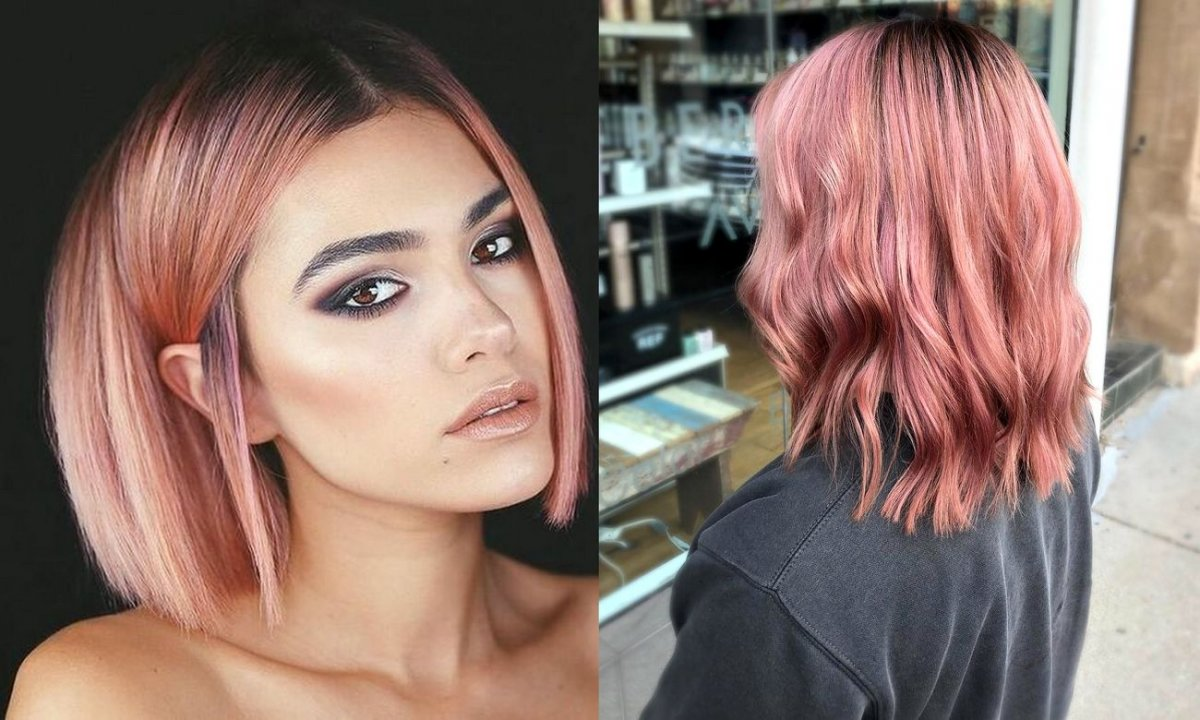 Rose gold - rewelacyjna koloryzacja włosów na lato 2020