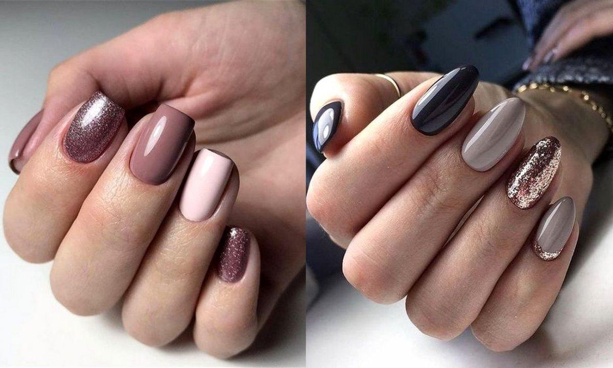 Manicure z dodatkiem brokatu - 20 rewelacyjnych stylizacji