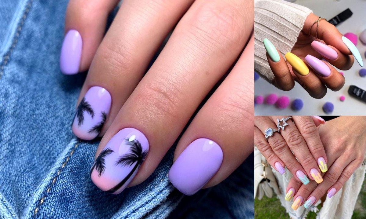 Pastelowy manicure - 22 letnie stylizacje paznokci