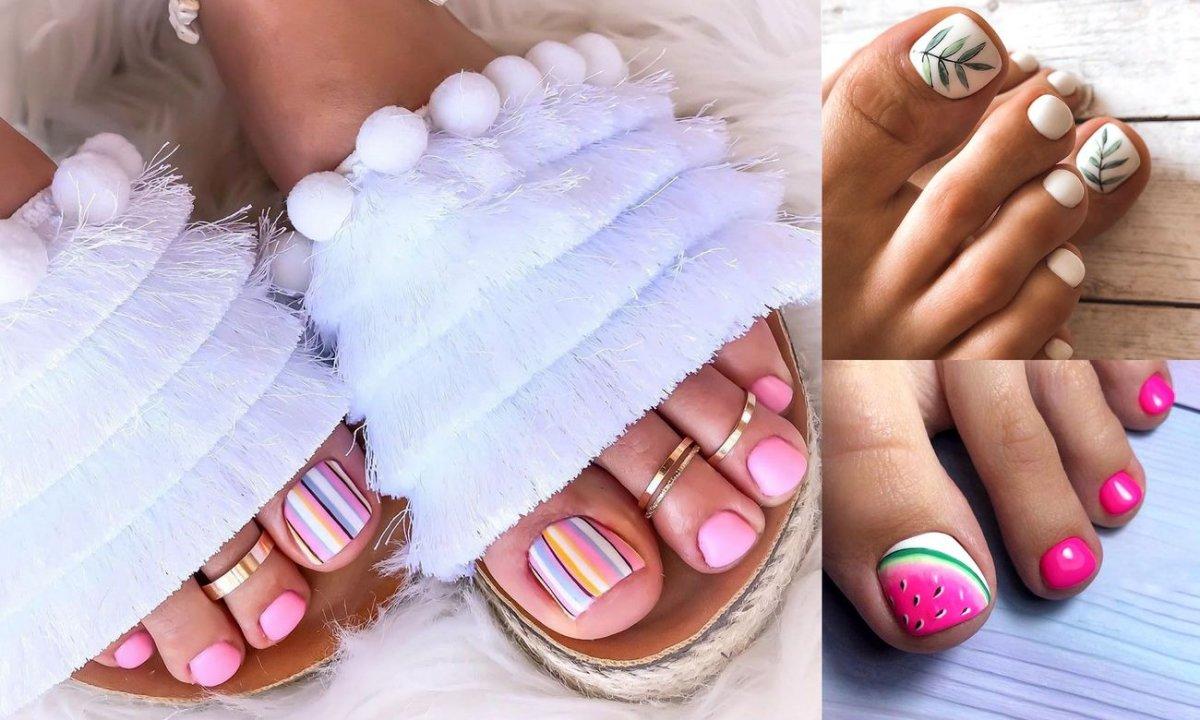 Pedicure na lato - 21 stylowych pomysłów