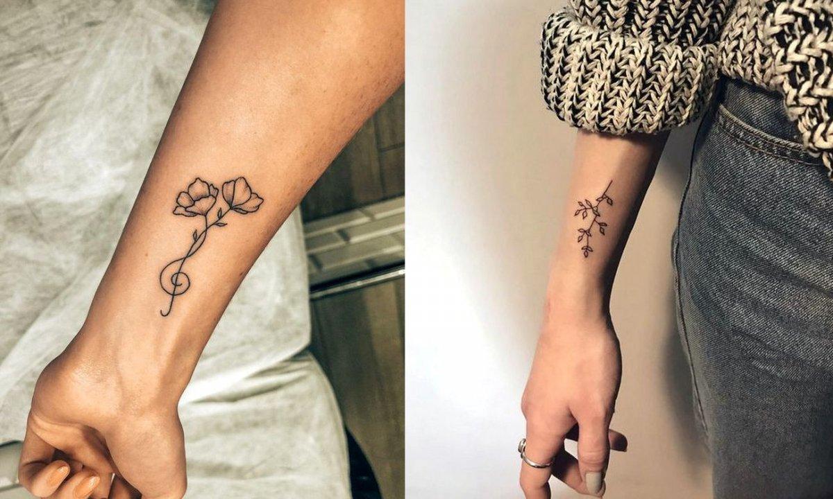 Tatuaż w okolicy nadgarstka - 21 przepięknych kobiecych wzorów