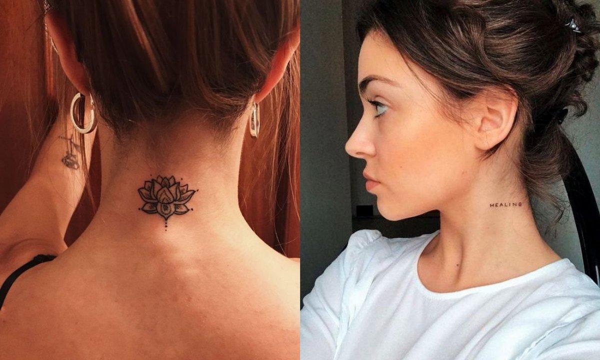 Tatuaż w okolicy szyi - kilkanaście najpiękniejszych wzorów