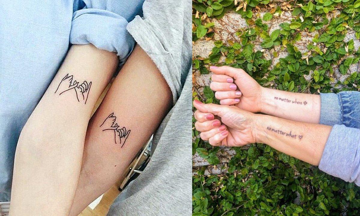 Tatuaże dla mam i córek - 16 pięknych wzorów, które chwytają za serce