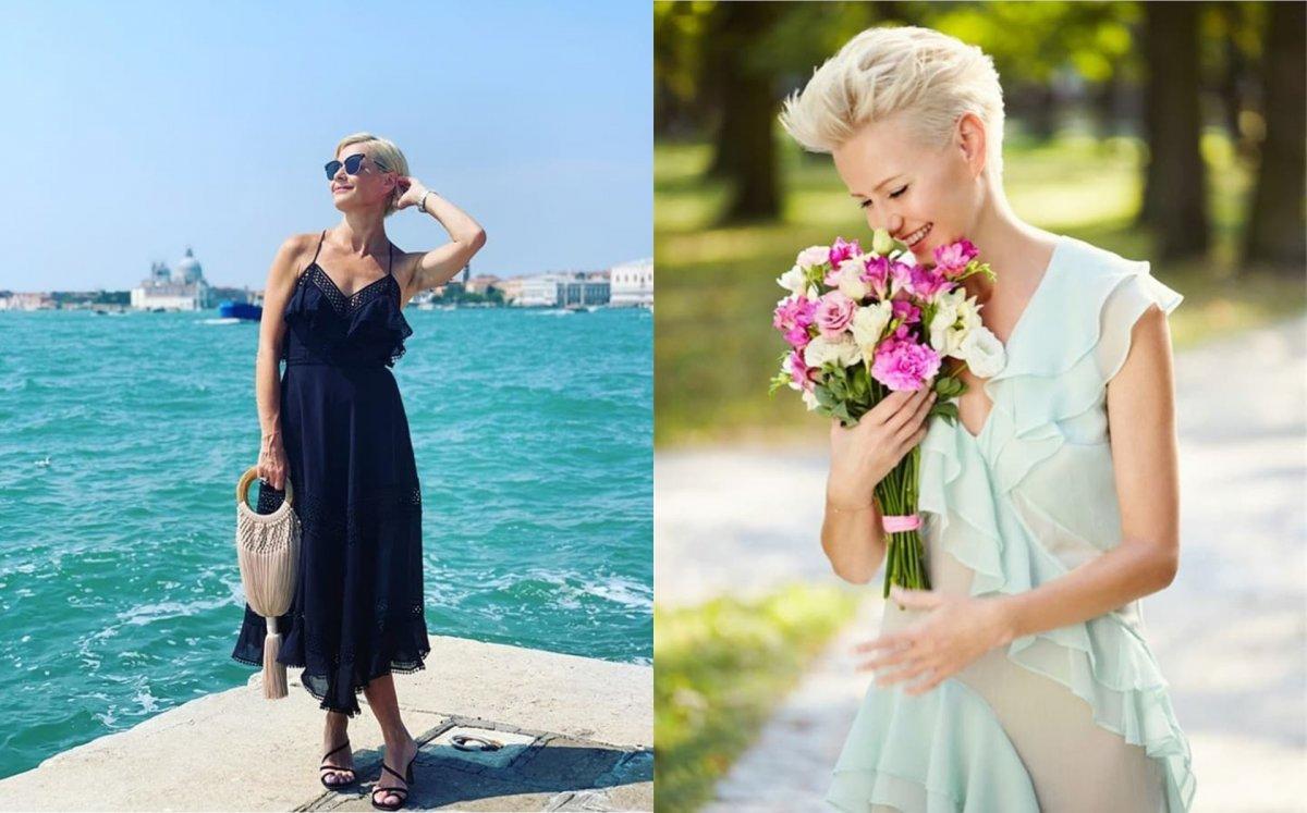 """Małgorzata Kożuchowska pozuje na plaży w niebanalnej stylizacji: """"Zdjęcie petarda, cudownie wyglądasz"""" - chwalą fani"""