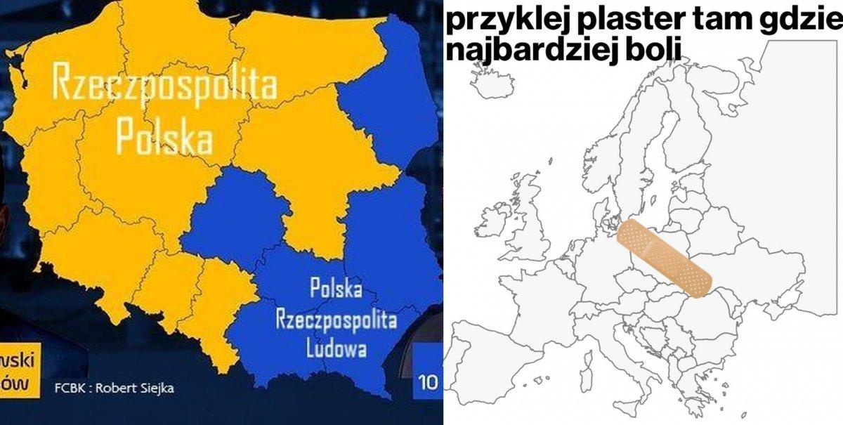 Wybory prezydenckie 2020: Polska murem podzielona. Internauci tworzą memy...