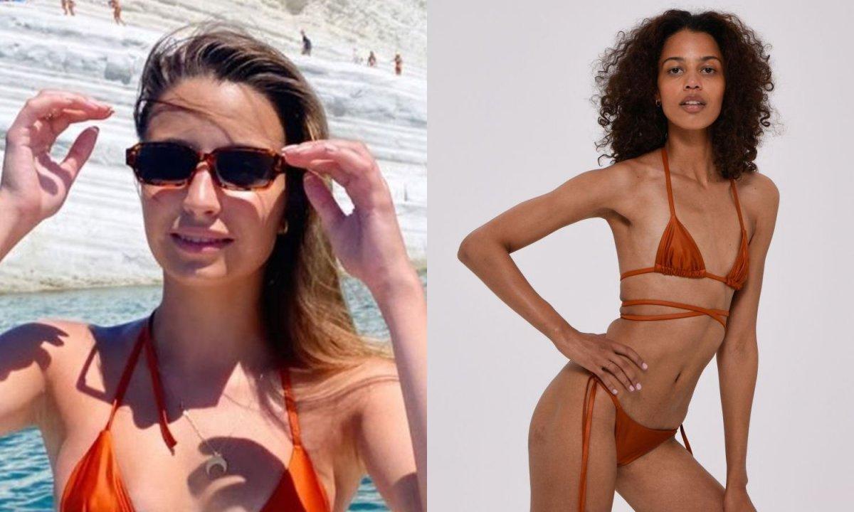 Julia Wieniawa w złotym bikini z samych paseczków zrobiła furorę! Znamy cenę i markę