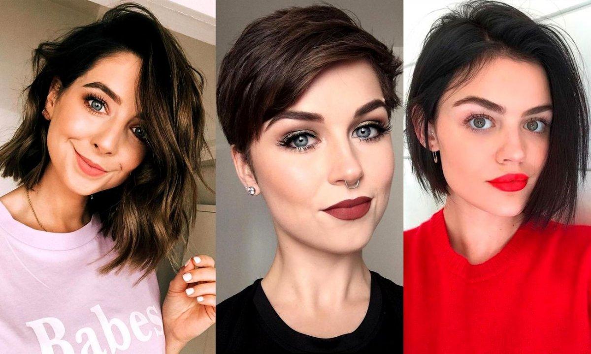 Krótkie i półkrótkie cięcia włosów - 23 mega modne propozycje dla brunetek i szatynek