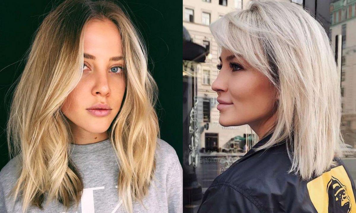 Półdługie fryzury dla blondynek - katalog cięć na lato