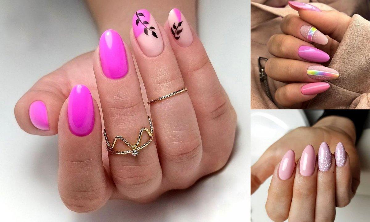 Różowy manicure - 33 najlepsze propozycje
