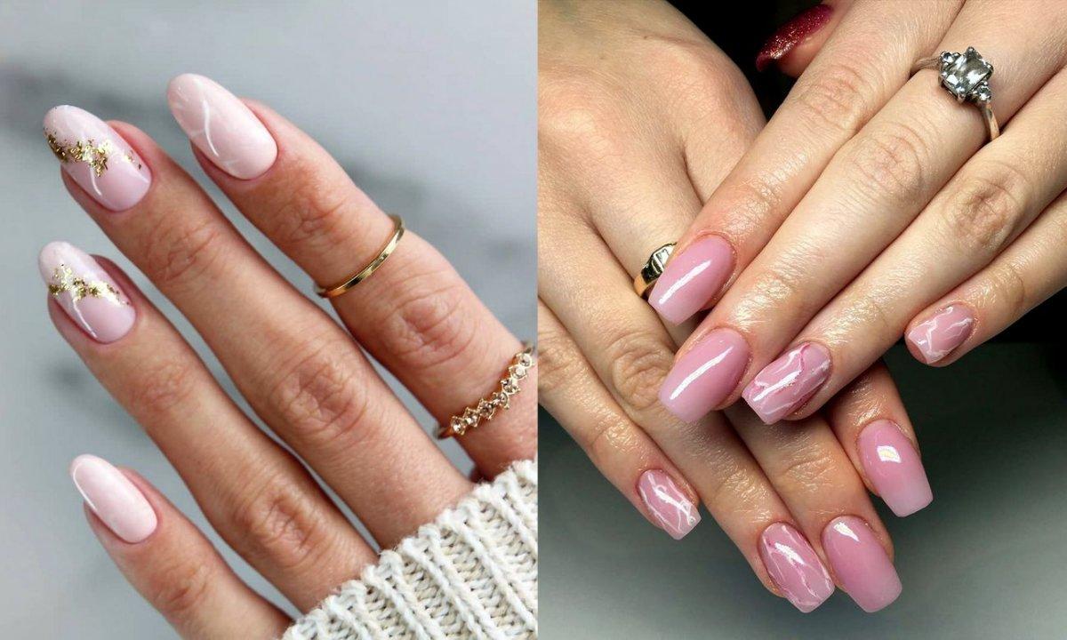 Marmurkowy manicure powraca w wielkim stylu! 21 zdobień w różnych wariantach kolorystycznych