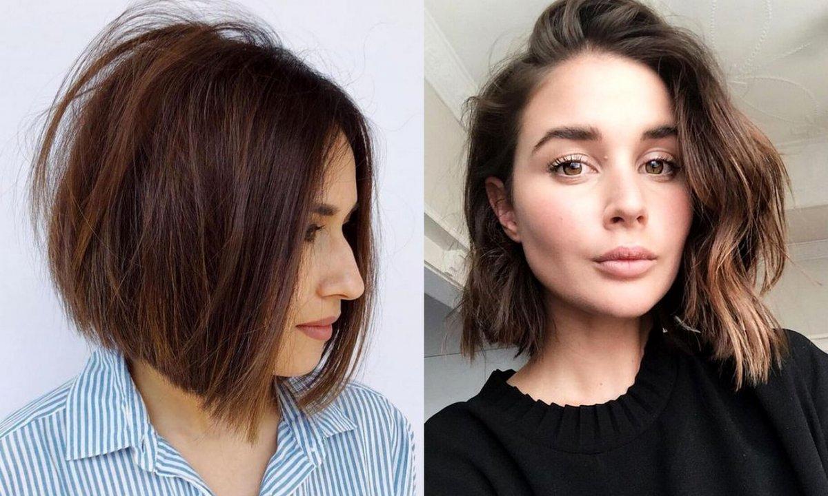 18 modnych cięć dla brunetek i szatynek - krótkie i półkrótkie fryzury