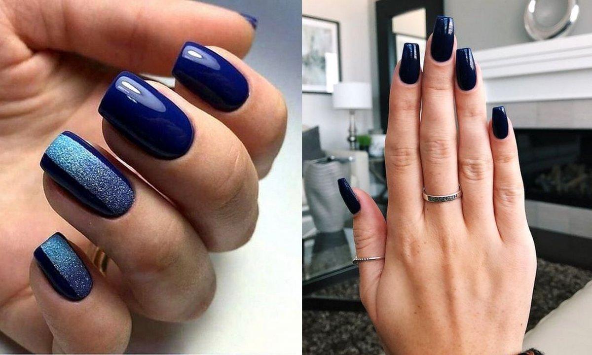 Granatowy manicure - 17 najlepszych propozycji