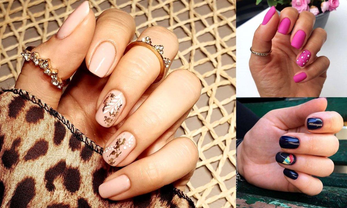 Jesienny manicure dla krótkich paznokci - 16 najlepszych stylizacji