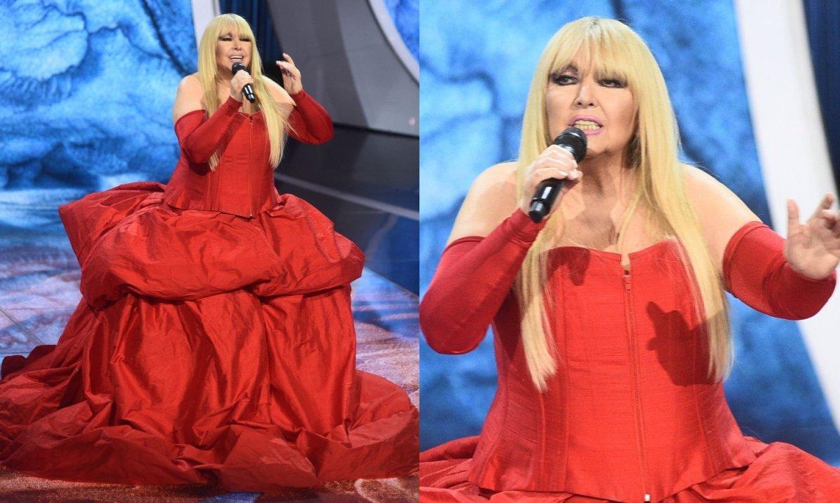 """Maryla Rodowicz w czerwonej """"bulwiastej"""" sukni zaszokowała w Opolu. HIT czy KIT?"""