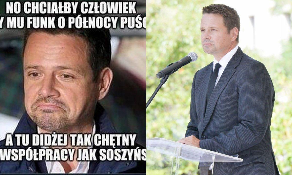 Rafał Trzaskowski bohaterem memów. Śmieją się z niego, że chciał zmienić muzykę w klubie!