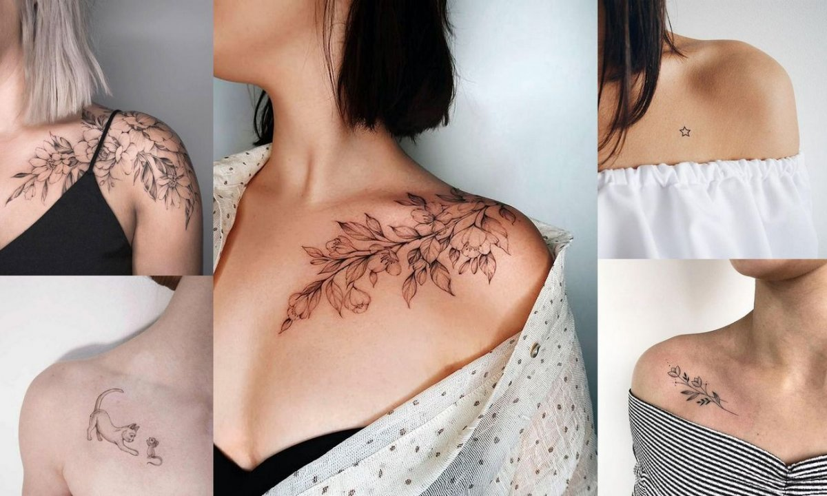 Tatuaż na obojczyk - 21 ultrakobiecych wzorów