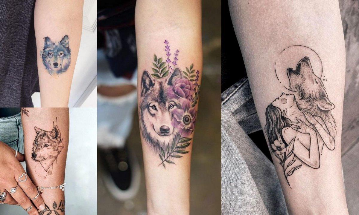 Tatuaż z motywem wilka - kilkanaście ultrakobiecych pomysłów