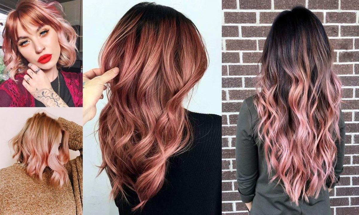 Rose gold - charyzmatyczna koloryzacja włosów na jesień