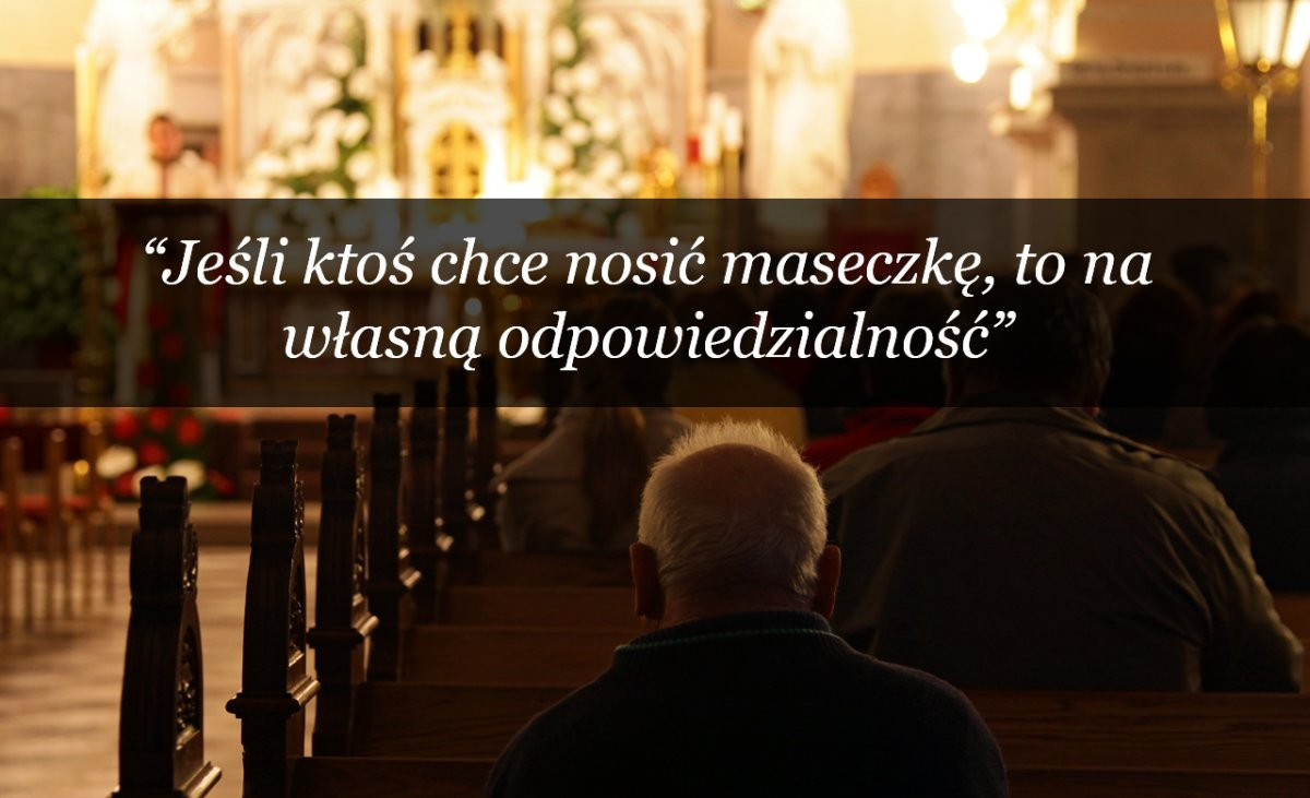 """Ksiądz nawołuje do ściągania masek: """"Jak można wielbić w nich Pana Boga? Można się w nich zatruć"""""""