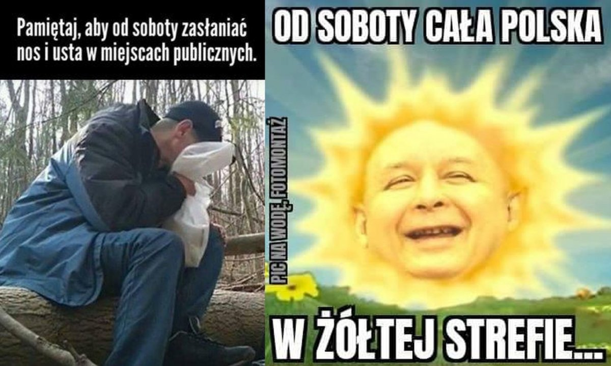 Od soboty cała Polska w strefie żółtej. Internauci buntują się i tworzą MEMY!