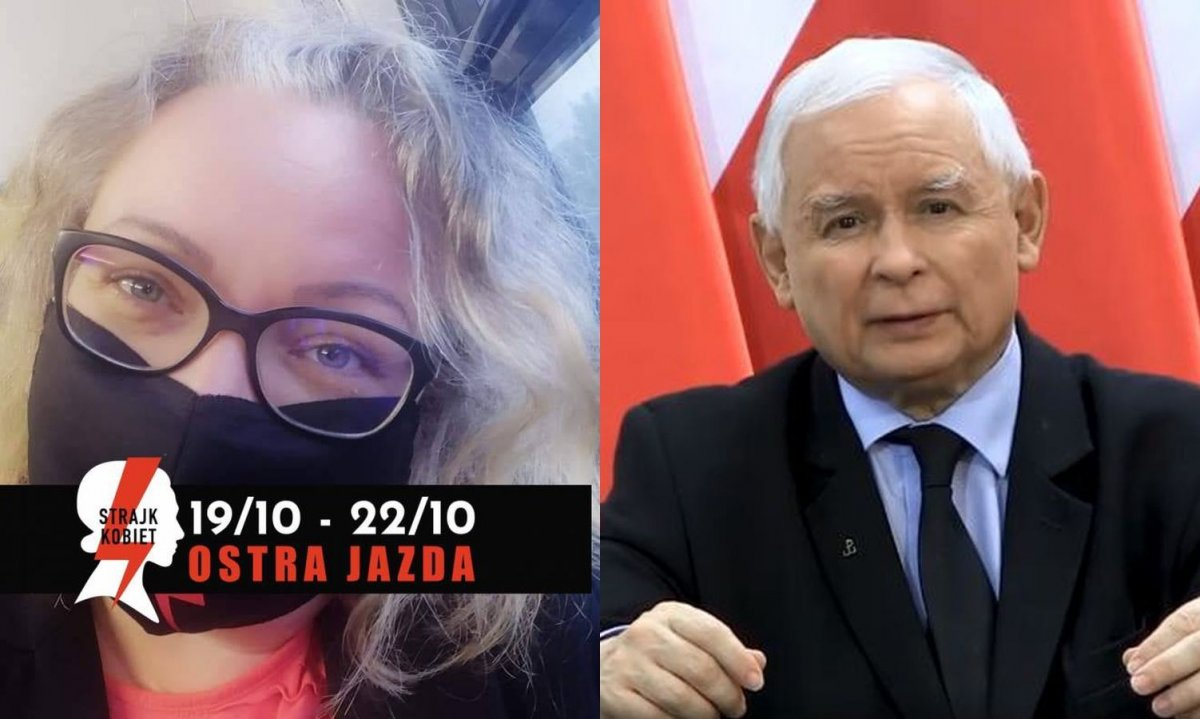 Liderka Strajku Kobiet o Kaczyńskim: Musiał wypacykowany się nagrać. To dla niego upokorzenie