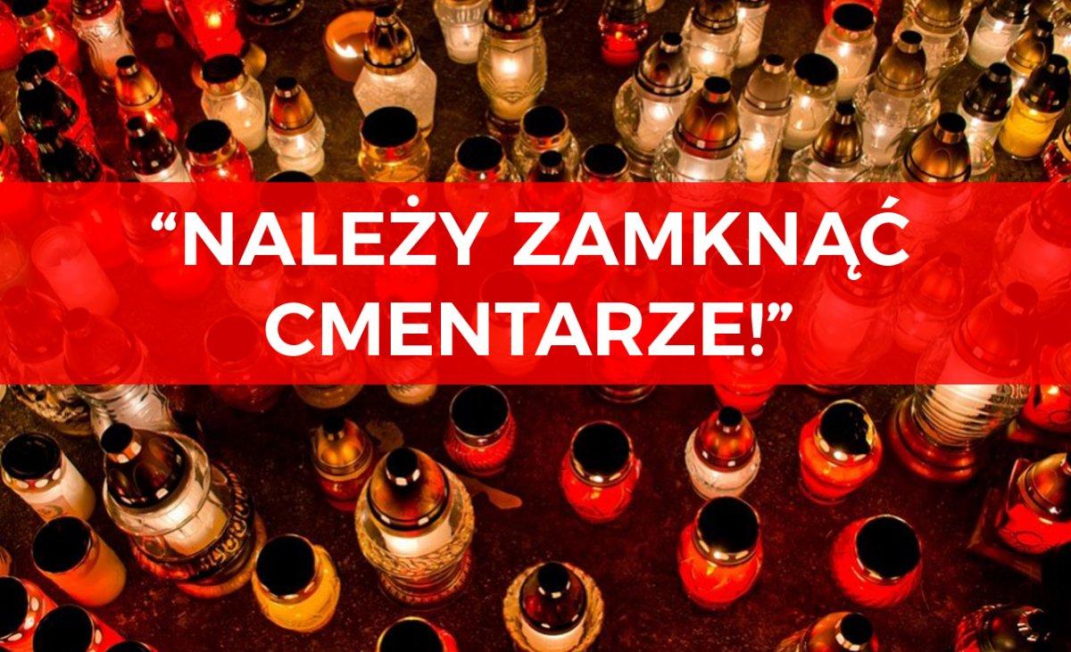 """Nie odwiedzimy zmarłych?! Dr Grzesiowski apeluje: """"Należy zamknąć cmentarze!"""""""