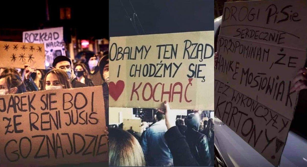 Strajk Kobiet: Oto najbardziej kreatywne hasła z transparentów