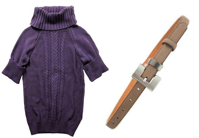 Sweter CrossJeans, pasek Bremi