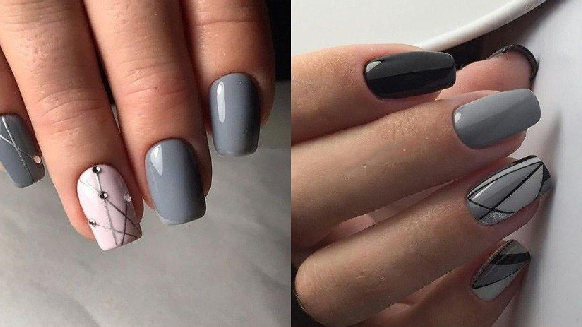 Szare paznokcie - 23 pomysły na modny, szary manicure [GALERIA]