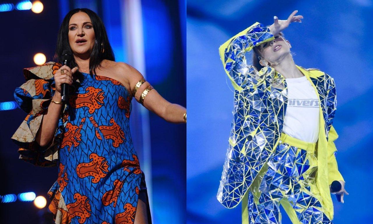 Kayah w niebieskiej sukience oraz Viki Gabor