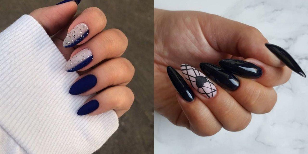 Ciemne paznokcie - 30 pomysłów na modny, ciemny manicure [GALERIA 2020]