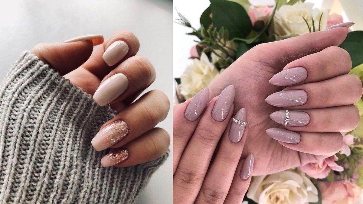 Nude manicure - galeria ciekawych zdobień w odcieniach beżu