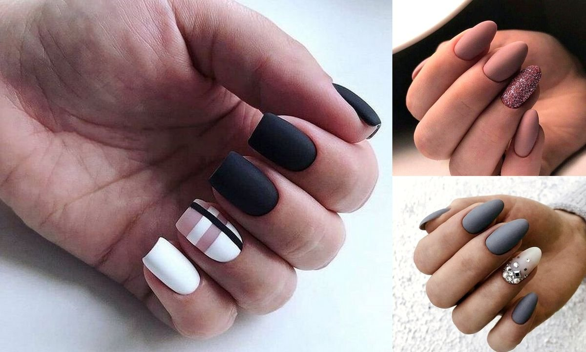 Matowe paznokcie - wiosenna galeria manicure