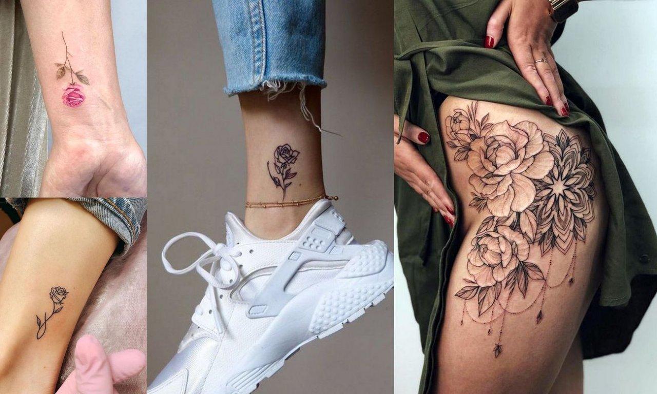 Tatuaż róża - 27 kobiecych i mega ciekawych wzorów