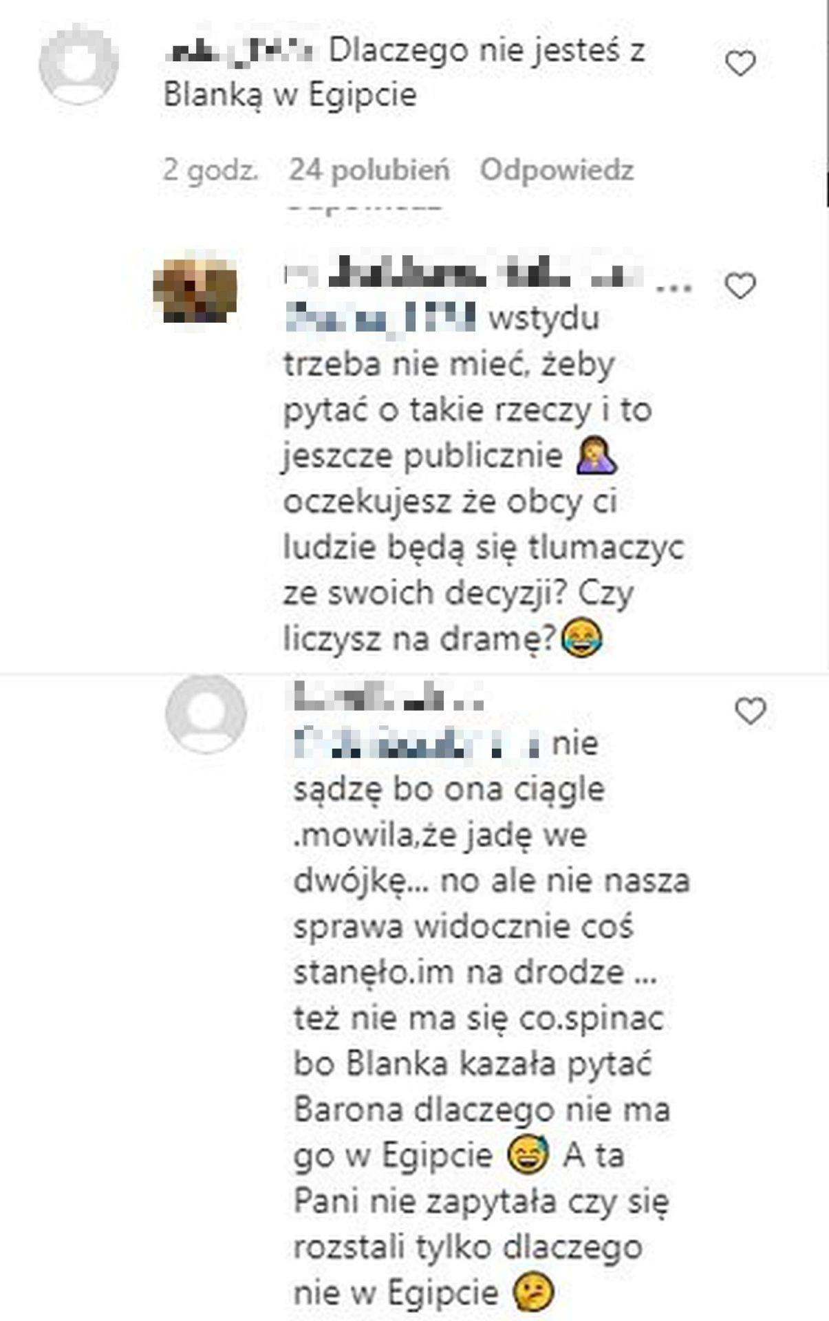 Baron, komentarz, Instagram